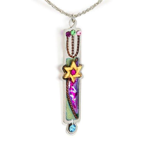 Seeka violett Mesusa judaic Halskette (Deko nur) und kuratiert von der artazia Kollektion n0618pu