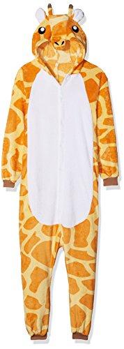ABYED® Kostüm Jumpsuit Onesie Tier Fasching Karneval Halloween kostüm Erwachsene Unisex Cosplay Schlafanzug- Größe L-für Höhe 164-174CM, Giraffe (In Halloween Kostüme)