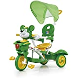 Baybee Mickey Trolly Cycle with Canopy and Parent Control (Green)