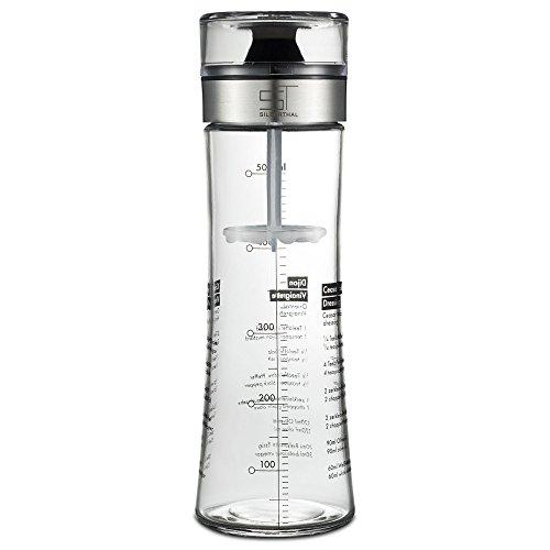 SILBERTHAL Dressingshaker aus Glas mit Rezepten – 500 ml – Spülmaschinenfest