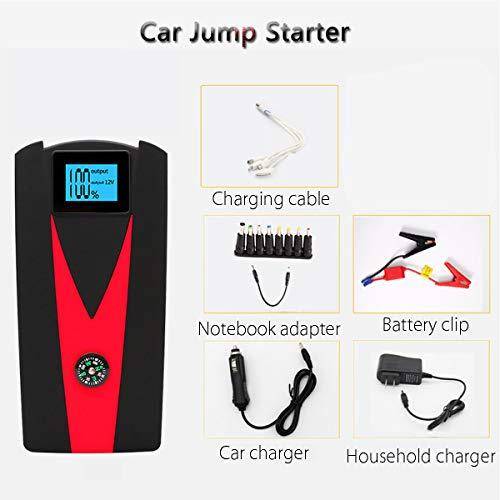 MAGO Avviatore Emergenza per Auto 800A 10000Mah Avviatore Batteria Auto/Moto 12V Jump Starter Booster con Torcia LED Porta USB da per Smartpho