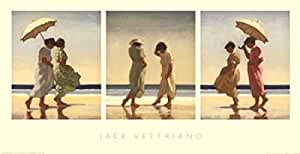 Jack Vettriano – Summer Days Triptyque Impression d'art Print (69,85 x 35,56 cm)