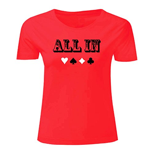 Art T-shirt, Maglietta All In, Donna Rosso