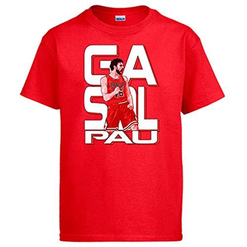 Diver Bebé Camiseta PAU Gasol Leyenda del Baloncesto - Rojo, 9-11 años