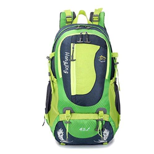 Wmshpeds 45L telaio in acciaio borsa alpinismo viaggio di piacere pacchetto di viaggio impermeabile zainetto A