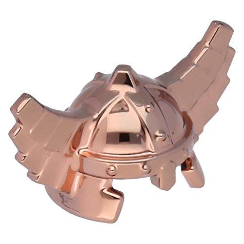 Zwergen-helm (LEGO® Figuren, Kopfbedeckung Helm Castle mit Wangenschutz kupferfarben)