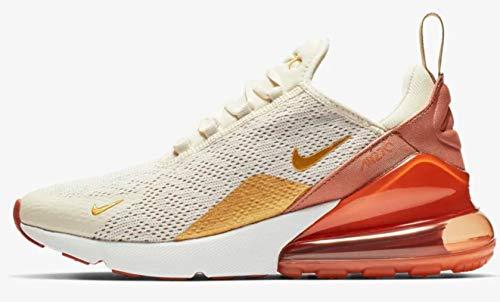 Nike Damen W Air Max 270 Leichtathletikschuhe, Mehrfarbig (Light Cream/Metallic Gold/Terra Blush 203), 44.5 EU