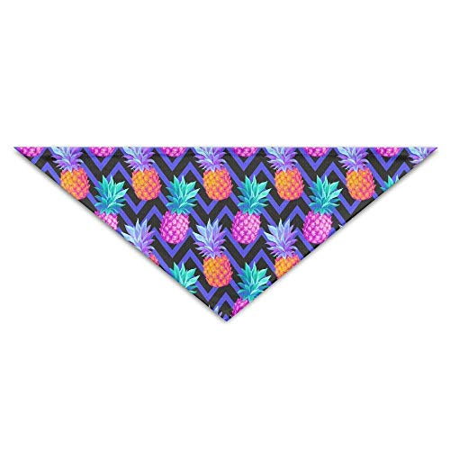 Hectwya Tropisches nahtloses Muster mit Ananas-Hundebandana-Lätzchen Welpen-Katzen-Kopfschal-Zubehör