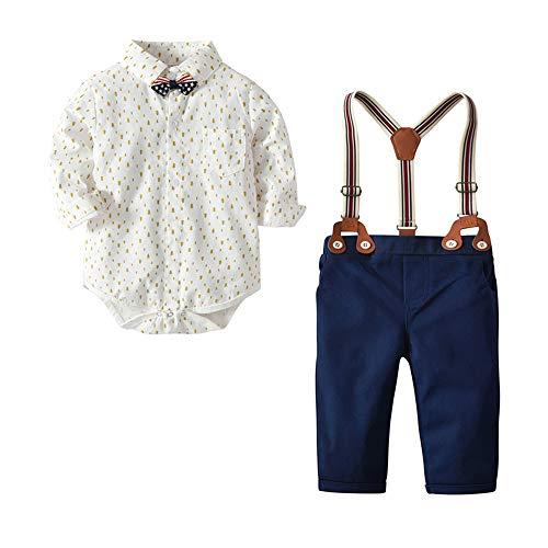 Bambino 0 24 Completini e Coordinati Prima Infanzia Tutine Body e Pantaloni Abbigliamento Abiti e Giacche Eleganti Bianco 6 12 Mesi