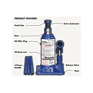 Favy Super Premium Heavy Car Hydraulic Jack for All Cars (Universal) (Blue & Red) G-35