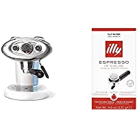 Francis Francis for Illy X7.1 Expresso Coffee Maker, White with Illy ESE Espresso Coffee Paper Pods (Pack of 1, Total 18 Servings)