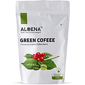 Aloena Green Coffee Beans- Natural and Premium Arabica Grade AAA 01 KG (35.27 OZ)