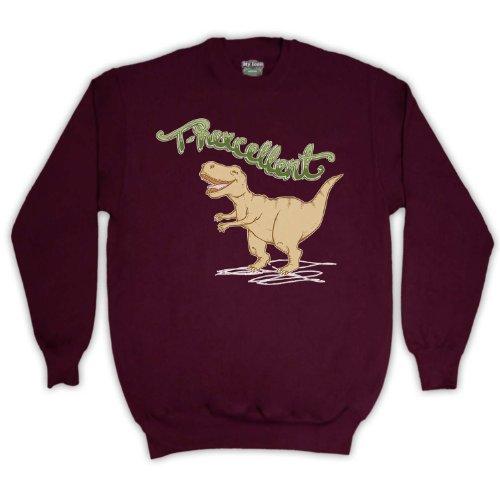 T Rexcellent Dinosaur T Rex Erwachsenen Pullover, Burgund, 2XL