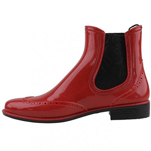 Gosch Shoes Gosch Shoes Sylt Damen Chelsea 7100-501, bottes en caoutchouc femme Red-Black