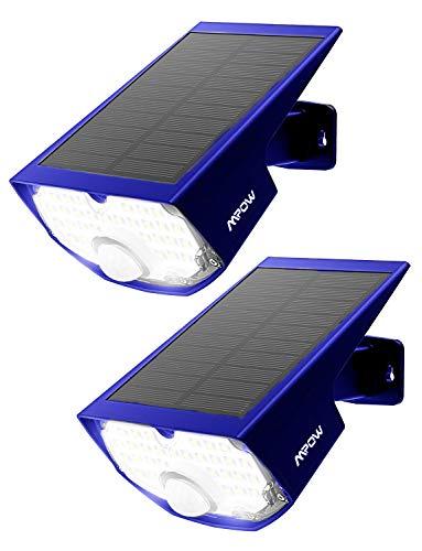 sensore di movimento all/'aperto 120 ° angolo di rilevamento,. Mpow 14 LED Luce solare pieghevole