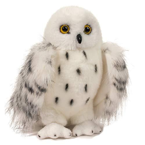 ard SNOWY OWL Schnee-Eule Eule weiß Vogel Bubo scandiacus Kuscheltier Plüschtier Stofftier Plüsch Spielzeug ()