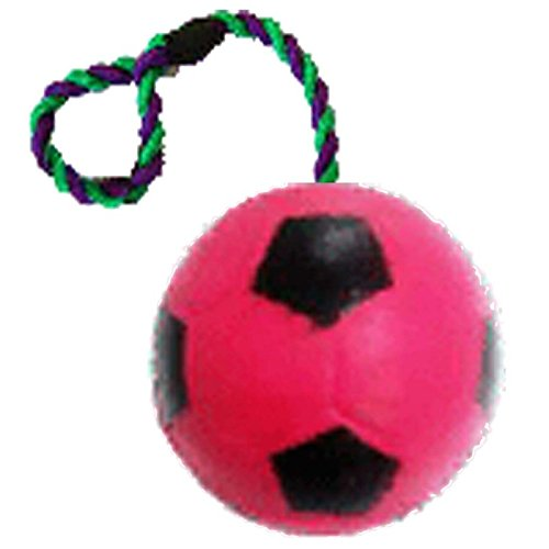 Love 'N Care Football With Rope 6cm (Colors Vary)