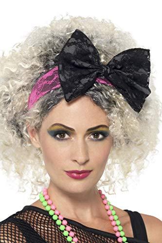 Smiffys Damen 80er Jahre Spitzen-Stirnband, One Size, Schwarz und ()