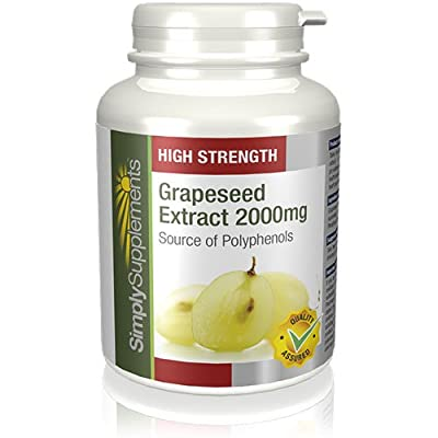 SimplySupplements High Strength Grapeseed Extract 2000mg|360 Tablets