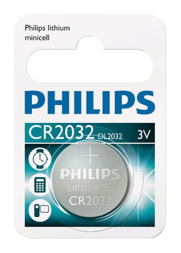 Blister 1 Lithium Knopfzelle CR2032 Philips