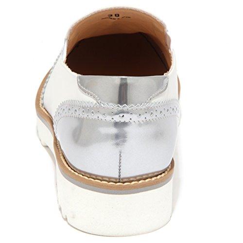 1502q Mocasín Hogan Pantofola Blanco / Plata Zapato Mujer Zapato Mujer Blanco / Plata