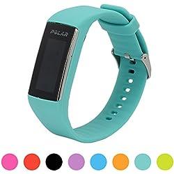 Correa de repuesto para pulsera de actividad Polar A360 Smart Watch iFeeker, correa de silicona y goma para la pulsera de actividad A360 (solo la correa, no incluye el reloj), aguamarina