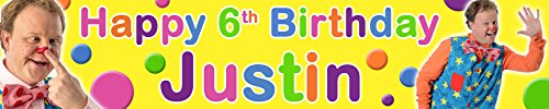 Image of Personalised Birthday Banner Mr Tumble - Pack of 2