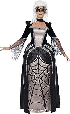 Mesdames Halloween Party robe noir Veuve araignée Baronne pour femme - noir - robe 36-38