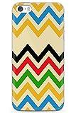 Case Warehouse iPhone 5 / 5s / SE Diseñador del Arco Iris Chevron Funda de Teléfono de Goma Cover Moda Herringbone Diseñador Modelo Art º