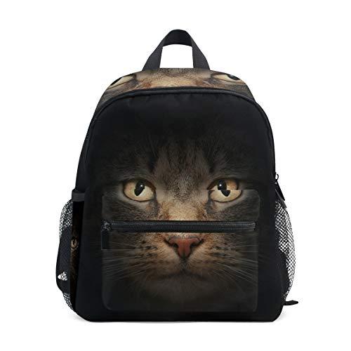 Kids Backpack, Lightweight Preschool Bag for Children Girls Boys, Cat Face Design Bag