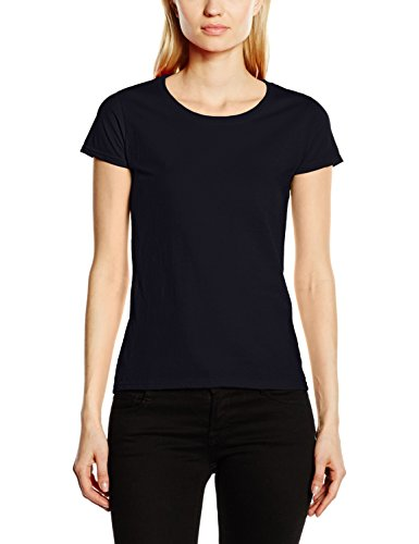 Fruit of the Loom SS129M, T-Shirt Donna Blu (Deep Navy)