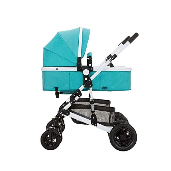GHH Double Strollers Baby Pram Tandem Buggy Newborn Pushchair Ultra Light Folding Child Shock Absorber Trolley Can Sit Half Lying 0-3 Years Old,60kg Maximum,UpgradedversionBlue GHH 1. {Four seasons can be} - Three-sided mesh design, the awning can be adjusted to multiple angles, easy to cope with the sun 2. {75CM high landscape} - Baby can stay away from the ground heat, car exhaust to ensure your baby's health 3. {Multiple shock absorption design} - Body frame spring shockproof, rear wheel, two wheel brakes, wheel spring shockproof, baby safety 1