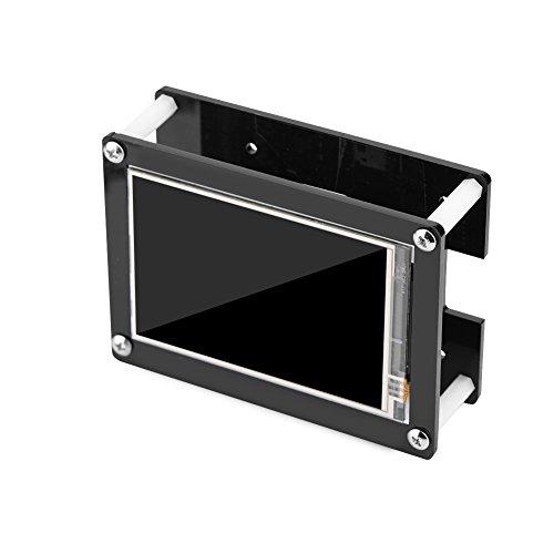 Richer-R 3,5 Zoll Raspberry Pi Touch Screen Display Monitor, 1080P IPS LCD HDMI 1920x1080 Display Touchscreen mit Schwarz Acryl-Gehäuse Set für Raspberry Pi Full-hd-lcd