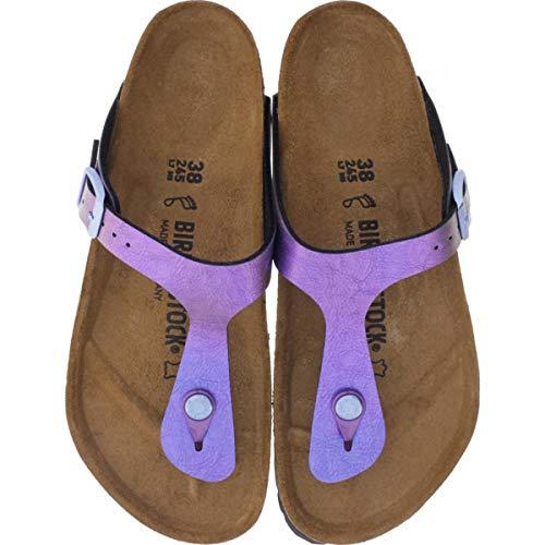 BIRKENSTOCK Damen Gizeh Birko-Flor Graceful Normal Sandale,Graceful Gemm Violet (1012402),39 EU