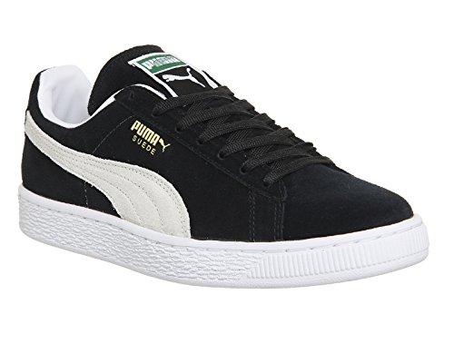 Puma Suede Classic+, Baskets Basses Mixte Adulte Noir/blanc