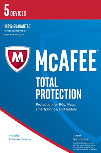 McAfee 2017 Total Protection | 5 Devices | PC/Mac/Android | Download