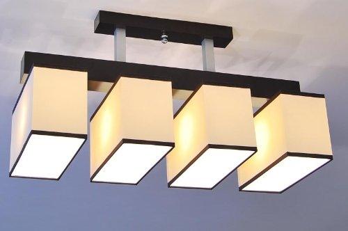 Sockel Restaurant Tisch (Designer Decken Pendel Leuchte Lampe Deckenleuchte Billard Tisch Theke E27 Power LED Paris 13b (Sockelfarbe: Nuss))
