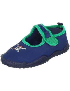 Playshoes Aquaschuhe, Badeschuhe Pirat mit UV-Schutz 174785 Jungen Aqua Schuhe