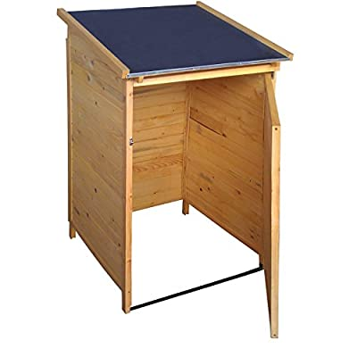 Mülltonnenbox verschließbar aus Massivholz - für 240 L Standard Mülltonnen - für ein schönes Ambiente in Ihrem Vorgarten von Moorland - Du und dein Garten