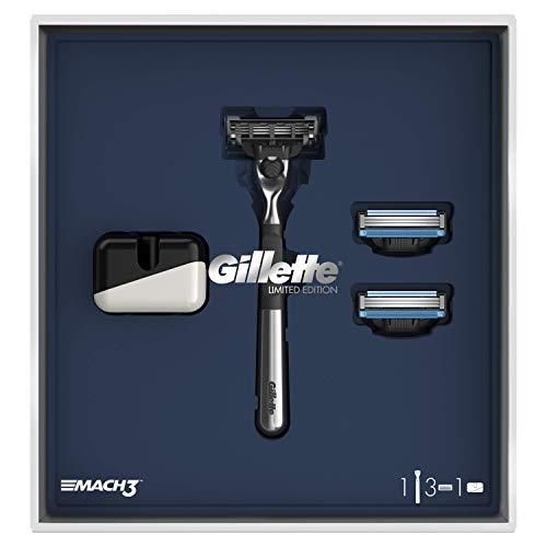Gillette - Mach 3 Coffret édition limité Rasoir Pour Homme + 2 lames