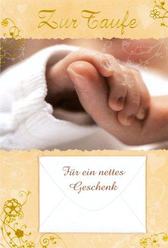 Taufkarte Glückwunschkarte Geldkarte zur Taufe mit Händen 11x17