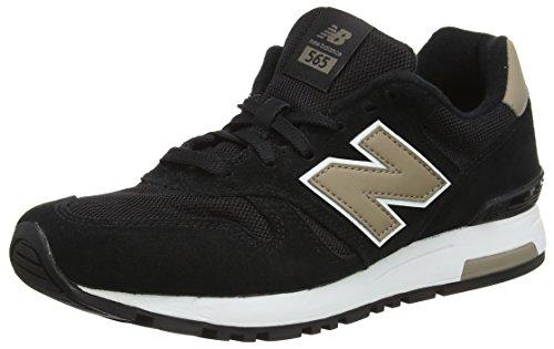 New Balance M565 Classic, Zapatillas de Running para Hombre, Negro (Black), 44 EU