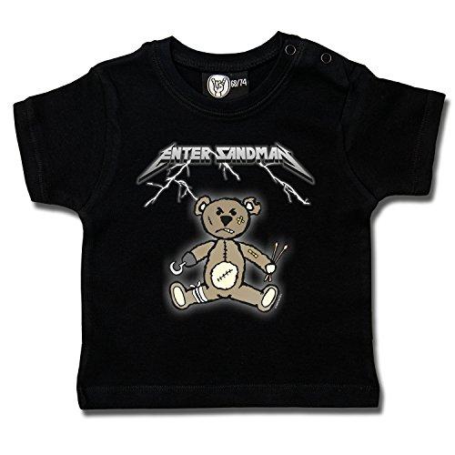 Metallica Tribute: Enter Sandman: Baby & Kids T-Shirt (68/74, schwarz) -