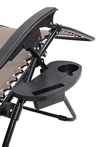 Mountain Warehouse Liegestuhl-Tisch - leichtes Terrassenmöbel, strapazierfähiger, abwischbarer Gartensitz - ideal für Garten, Terrasse, Picknick, Camping Schwarz (Kühlschrank Terrasse)
