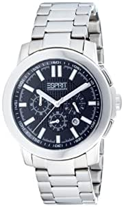 Esprit Herrenarmbanduhr moon glow black silver 4442423