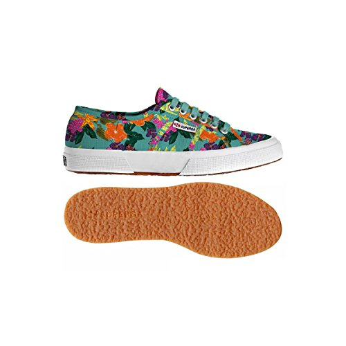 Superga  2750 Fantasy Cotu, Baskets femme FLOWERS FIELD