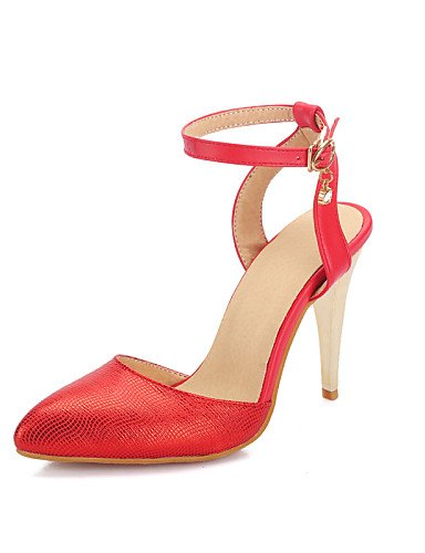 WSS 2016 Chaussures Femme-Habillé-Noir / Rouge / Or-Talon Aiguille-Talons / Bout Pointu-Talons-Similicuir golden-us8 / eu39 / uk6 / cn39