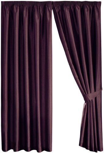 Dreams 'n' Drapes Java Aubergine Eyelet Lined Curtain 66x108