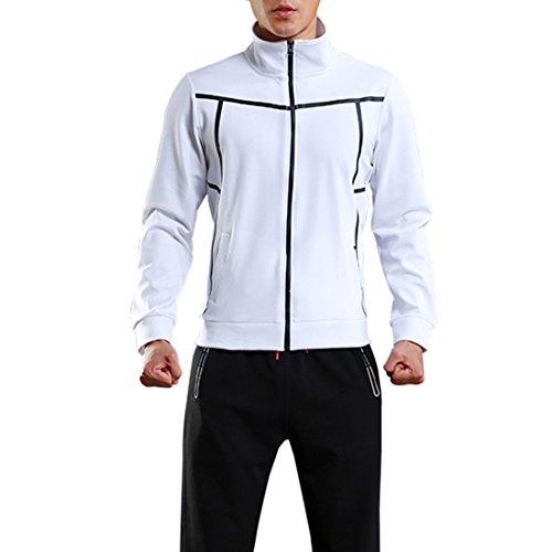 SEVENWELL Men's Full Zip Sport Midweight Jacket Active Sweatshirts With Flexible Zipper S-L