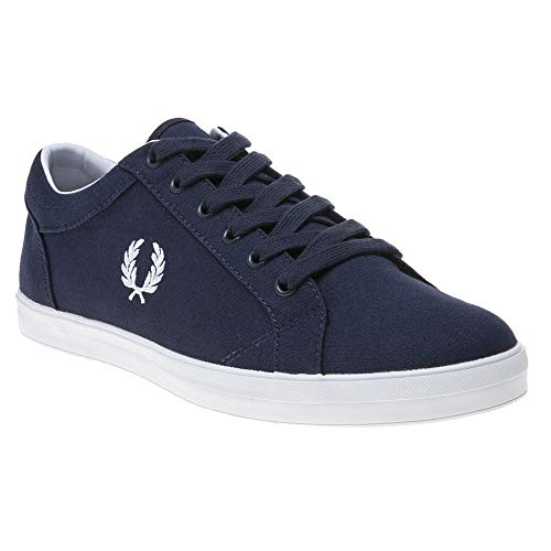 Fred Perry Baseline Canvas Herren Sneaker Navy -
